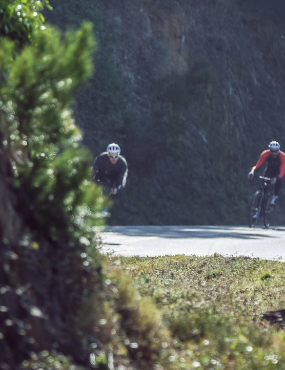 At the launch B'Twin was showing off its bikes on some delightful Spanish terrain