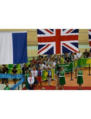 Union Jack, flown enough to make even the Beijing podium girls smile.