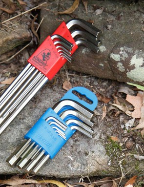 One letdown of this tool set is the included hex keys (pictured on right). The quality is great, but they lack length (leverage) and a ball end. Unior offers better options for sure