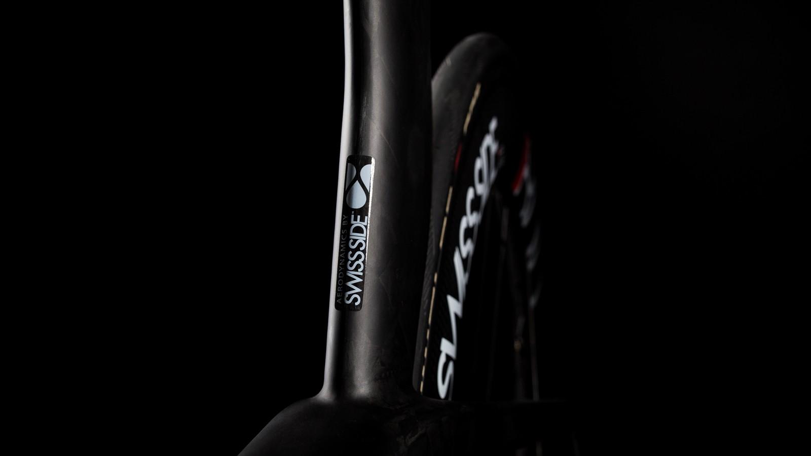 The bike was developed in conjunction with Swiss aerodynamic specialists Swiss Side