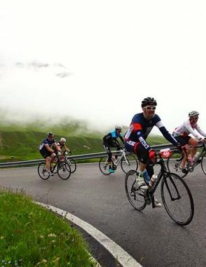 Cycling Plus magazine's editor Rob 'enjoying' himself...
