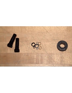 The conversion kit will include two spindle adaptor cartridges, some nuts and washers and a cartridge removal tool