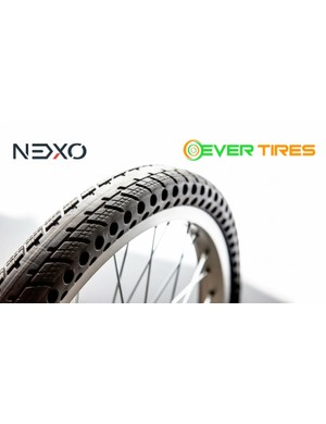 The Ever Tire is a hollow, never-flat tire
