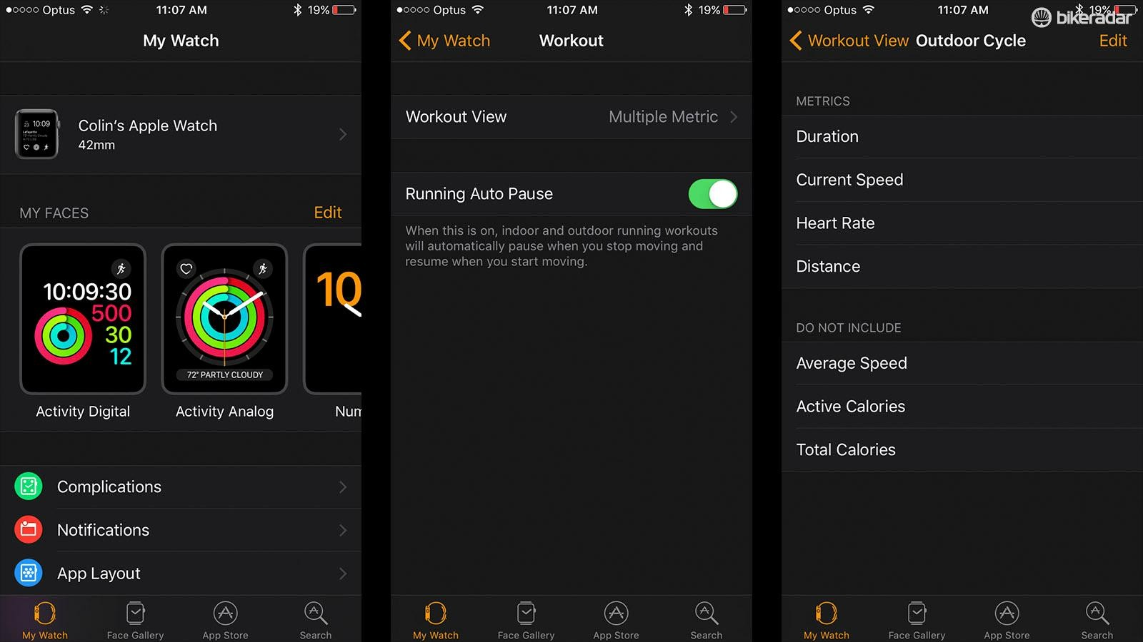 The watch app is just like the settings menu on your phone. It allows you to customise watch faces, change notification settings, choose which apps are showing and change settings within the apps