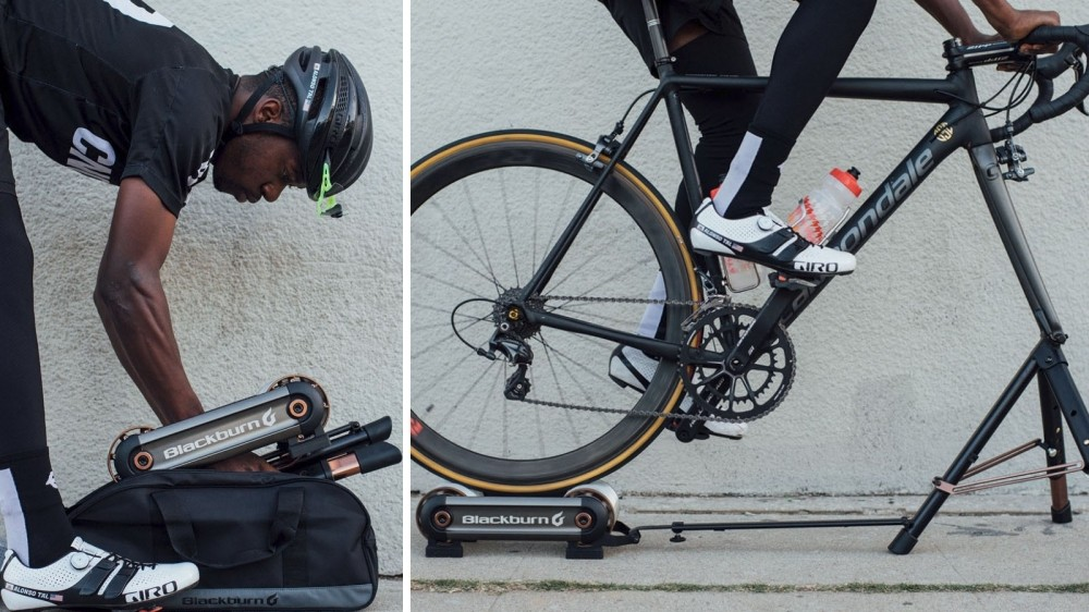 The new Race Day Portable Trainer offers up to 650 watts of resistance, Blackburn claims