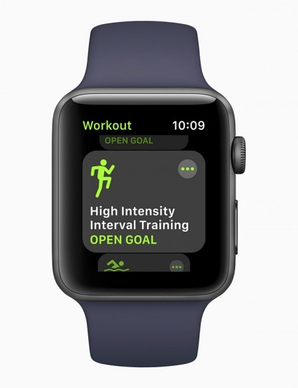 The Workout App now features High Intensity Interval Training, which utilises a new algorithm for capturing heart rate and motion