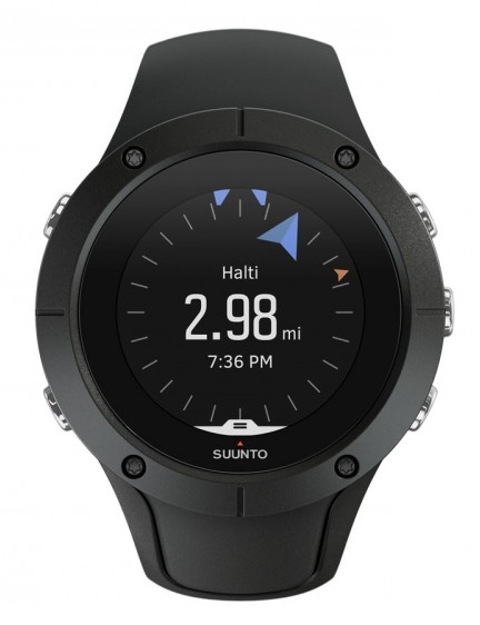 The bump on the band below the screen is Suunto's external GPS antenna which is seen on some of the brand's older watches