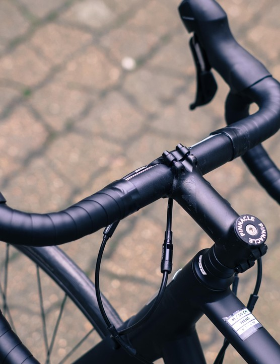 Own brand finishing kit is joined by an FSA compact road handlebar