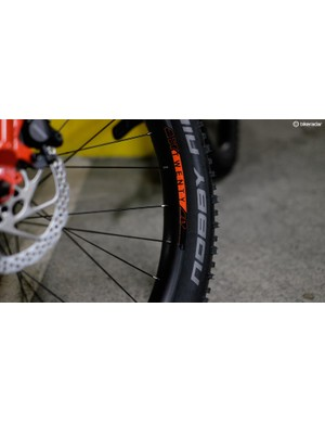 40mm own-brand rims provide the perfect seat for the Pine Mountain's 2.9