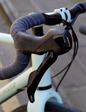 The Sequoia is a road bike with riser bars