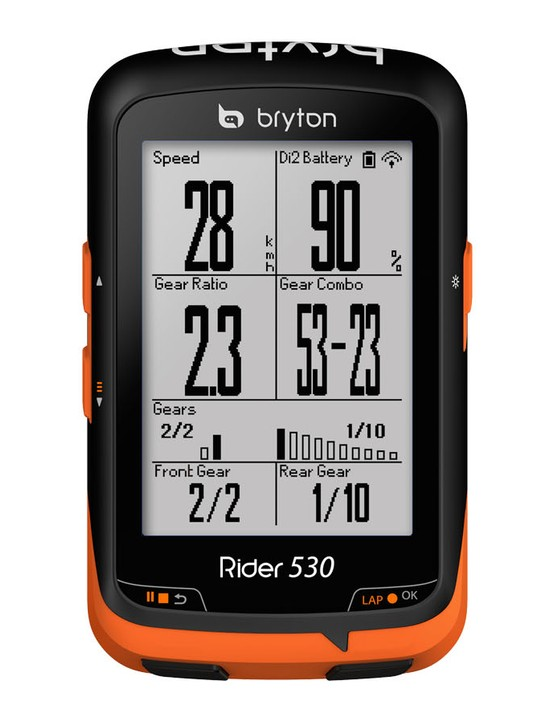 Bryton Rider 330 and 530 units can display current gear position, Di2 battery life and more