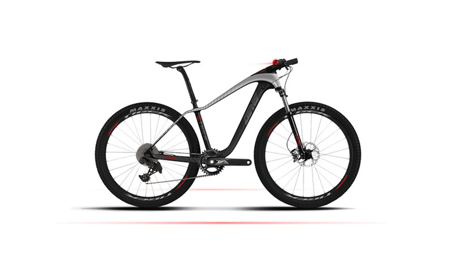 The Smart Mountain Bike is a carbon hardtail with an air sprung fork, hydraulic disc brakes and 1x11 gearing