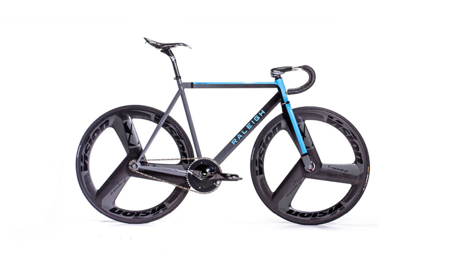 The Cheetah Fast is built with TIG-welded Columbus tubing and FSA and Vision carbon finishing kit