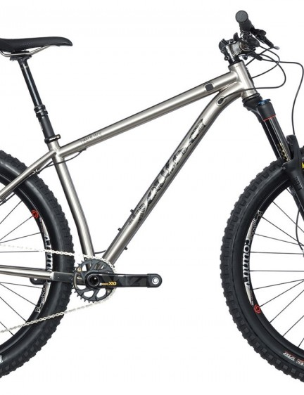 The Timberjack is a long and slack hardtail compatible with 29 or 27.5+ wheels and tires