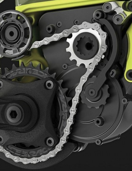 Instead of using a Bosch or Shimano drive system, Rocky Mountain designed its own
