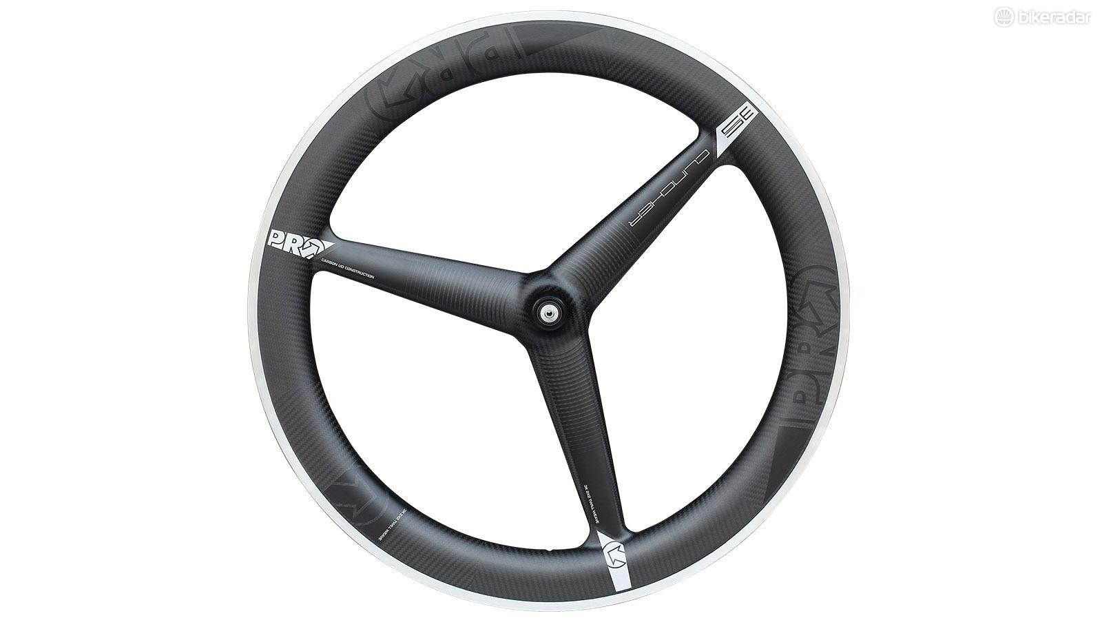 Now you can have the speed of a tri-spoke wheel with the convenience of a clincher