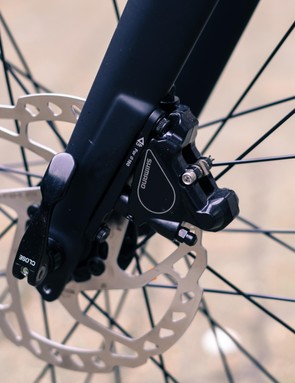 The Dolomite's thru-axle fork should add precision at the front