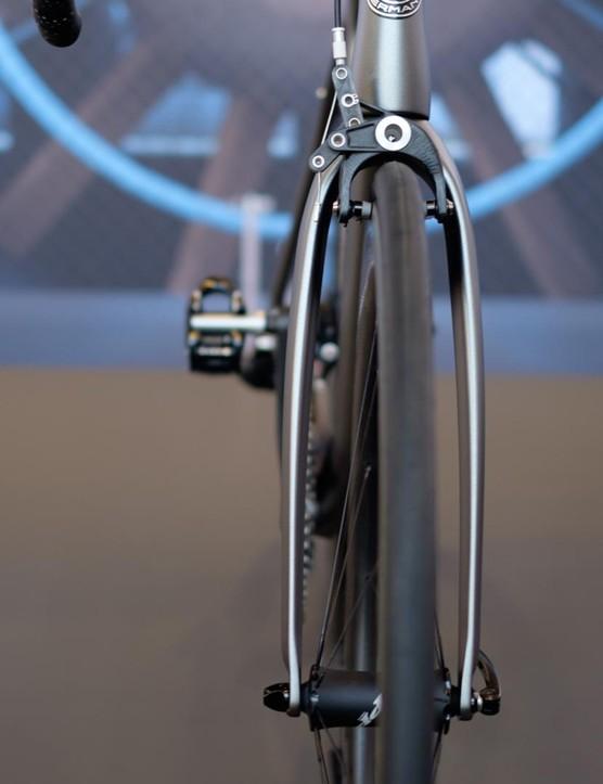 Storck's distinctive bow-legged fork is designed to minimise drag