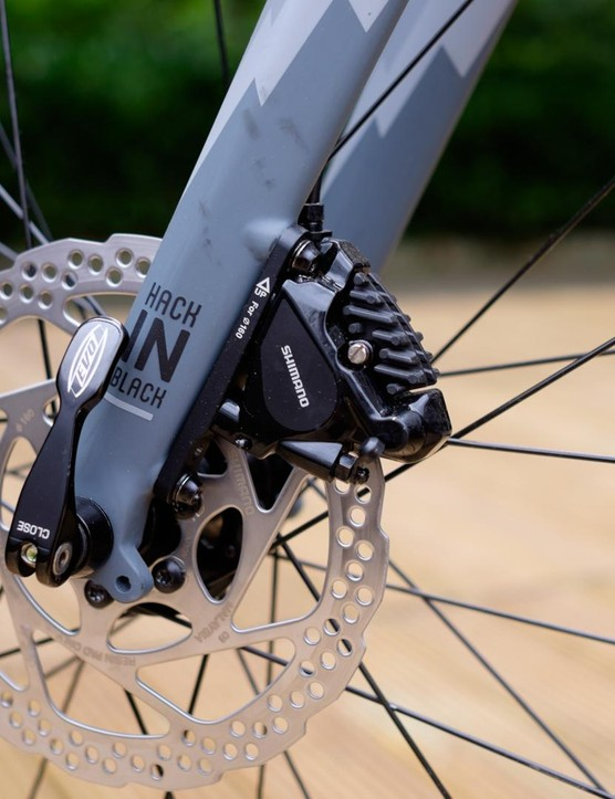 Flat-mount versions of Shimano's 105 level hydraulic disc brakes