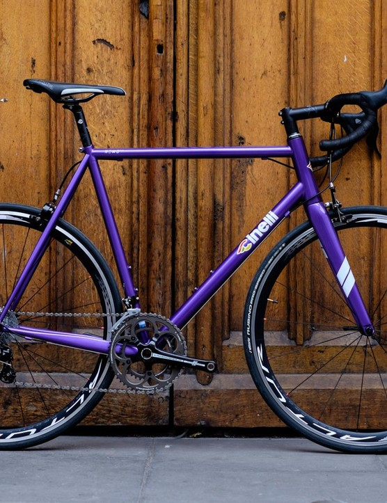 The Cinelli Nemo TIG... one very very purple bike