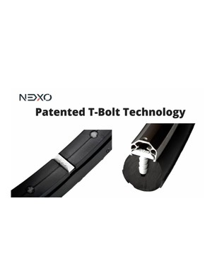 Nexo Tire's T-Bolt mounting system isn't all that different from the Tannus tire