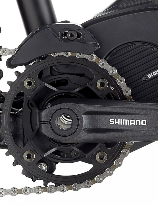 The big advantage to the STEPS E8000 motor is that its Q-Factor is the same as a standard crankset