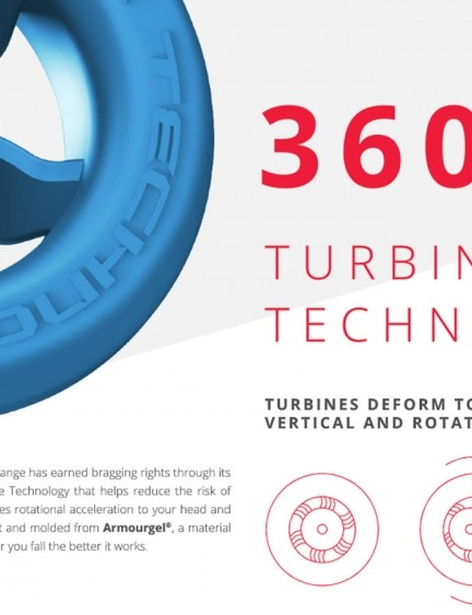 The 360 Turbine is Leatt's take on a rotational impact resistance system
