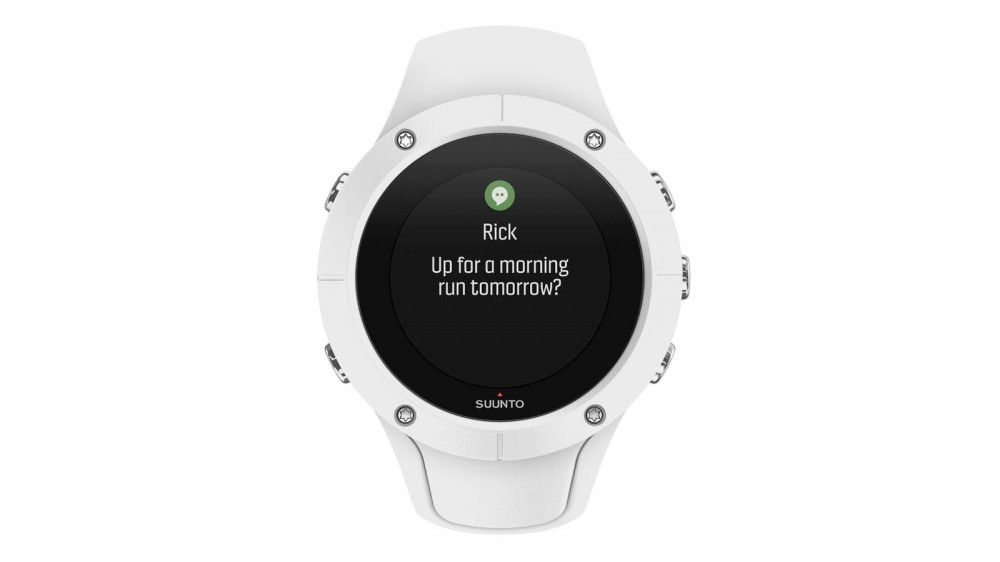 In addition to sensors, the Bluetooth connection allows the watch to display push notifications