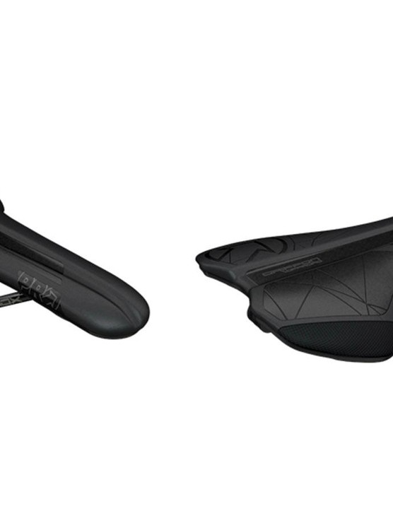 PRO says the Griffon saddle has a flatter profile with a narrower tail section with a deeper side wall for less flexible riders who tend to move around more