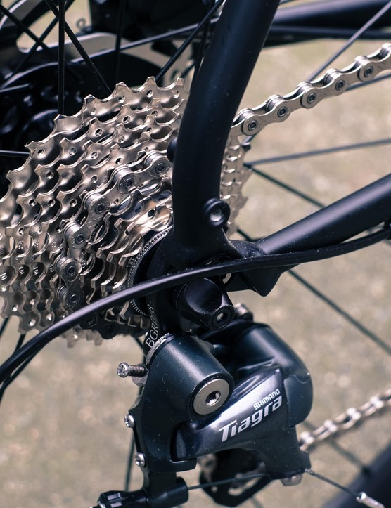 The 11-28t 10-speed cassette might not give the spread that some less powerful riders are looking for