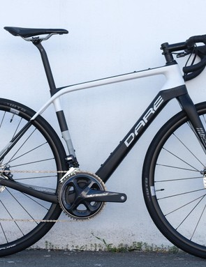 The GFE uses the same frame but wears narrower 32mm tyres, compact gearing and a regular handlebar