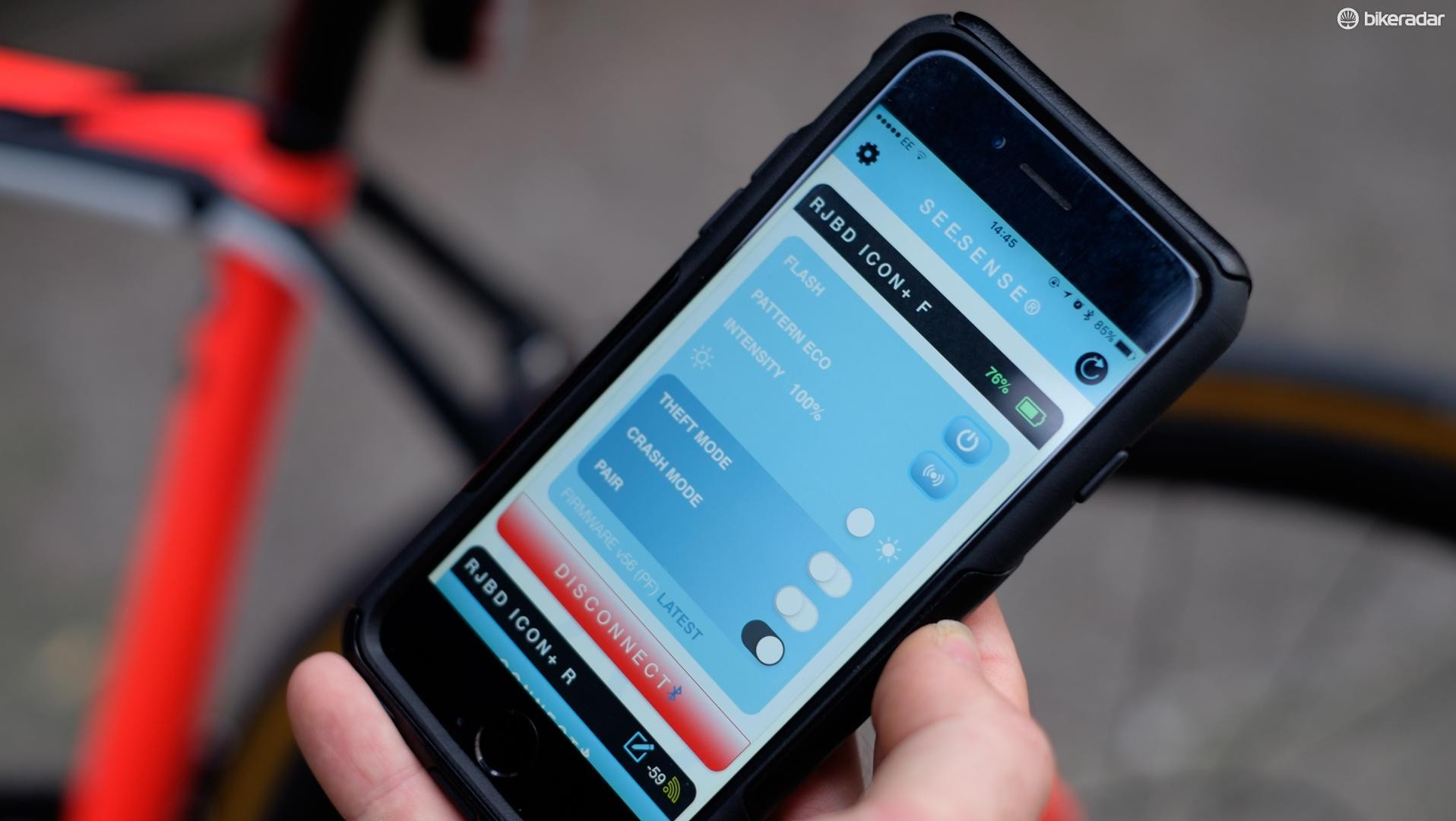 See.Sense's smartphone app lets you control all the settings without needing to decrypt a combination of flashing LEDs
