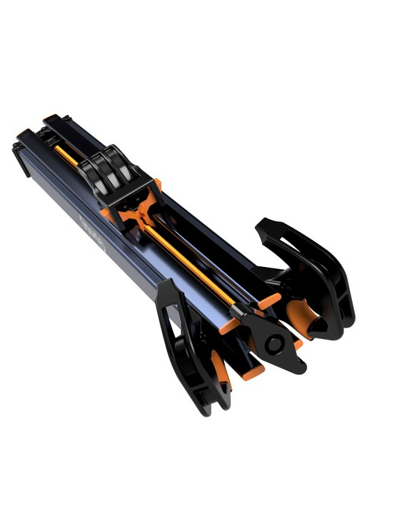 It folds down 61cm / 24in long and can easily be stored in your trunk rather than on your roof