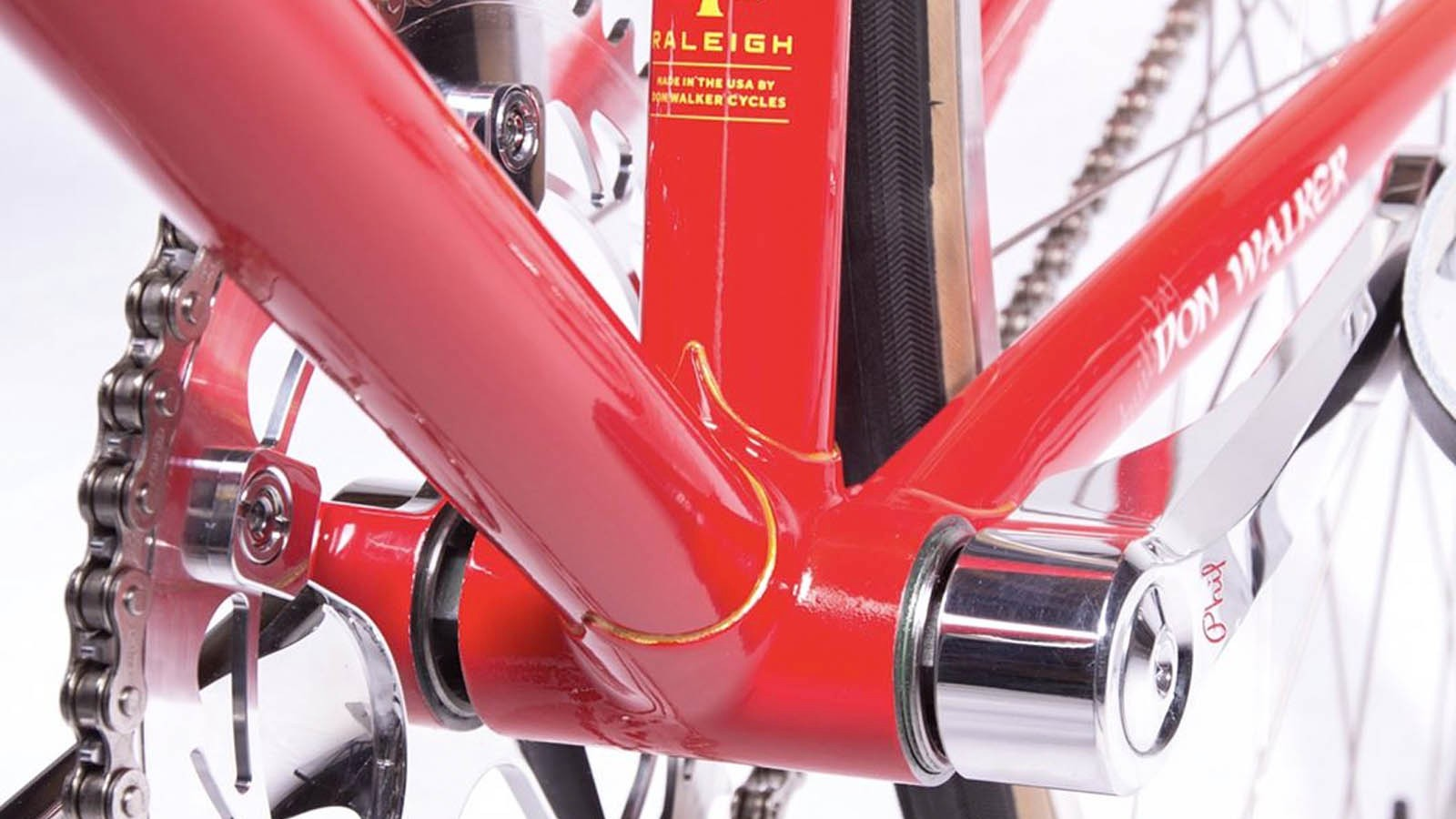 Handmade steel lugs and tube, and Phil Wood cranks — what more could you want?
