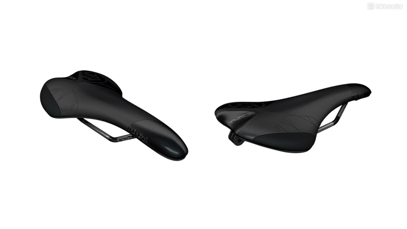 According to Pro, the Turnix saddle has a contoured profile with a wider tail for more flexible riders moving less on the saddle