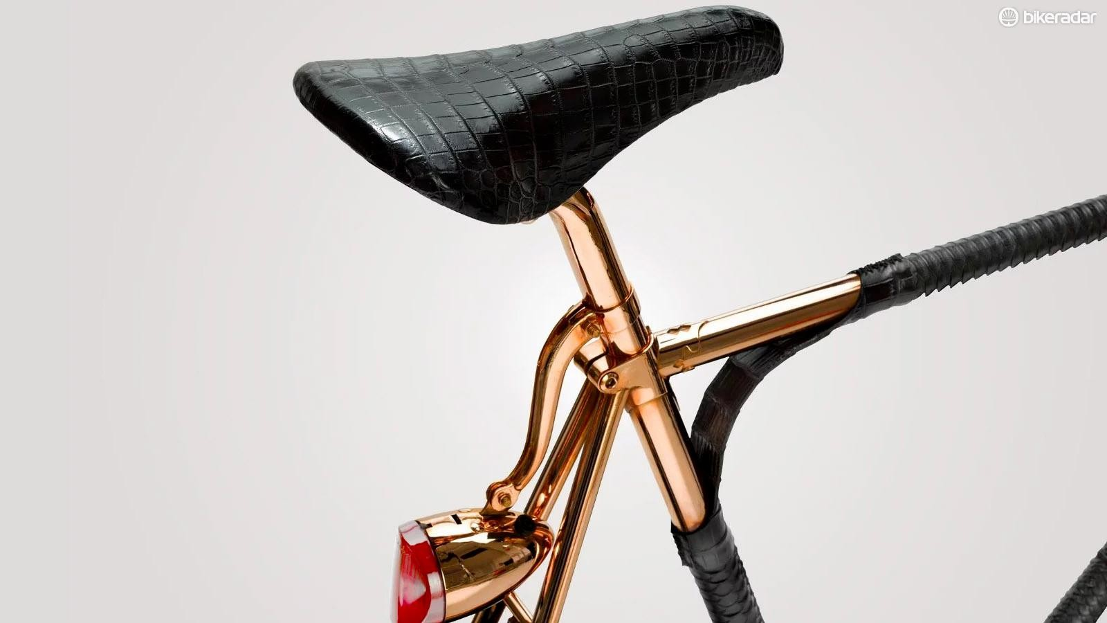Williamson Goods has taken an already fancy Brooks saddle and made it Scrooge McDuck fancy