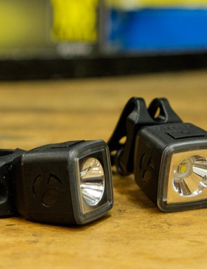 The Ion and Flare lights from Bontrager both have easy-to-attach stretch fittings