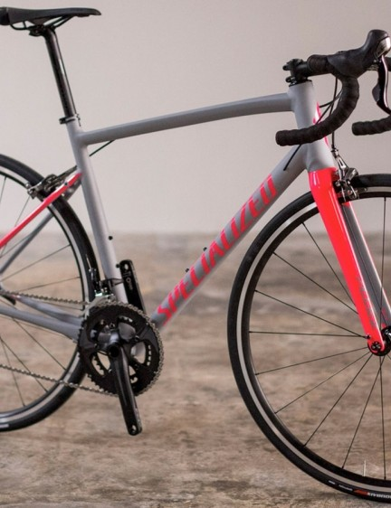 The new Allez sees a compact rear triangle, internal cable routeing and rack and fender mounts