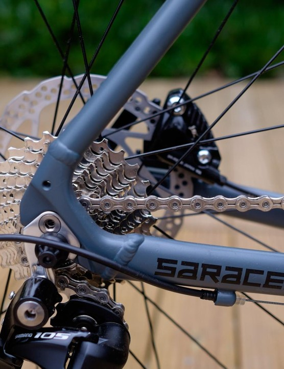 The 11-28t cassette doesn't offer the same range as some of the competition