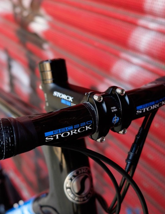 Storck's own-brand bars come wrapped in Fizik bar tape, a welcome surprise