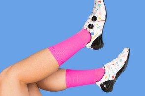 Christmas and socks go together as well as socks and cycling