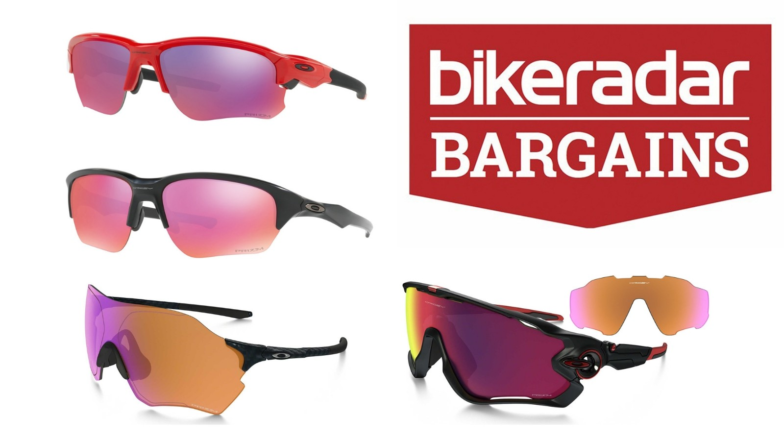 Save 50% on selected Oakley sunglasses at Evans Cycles