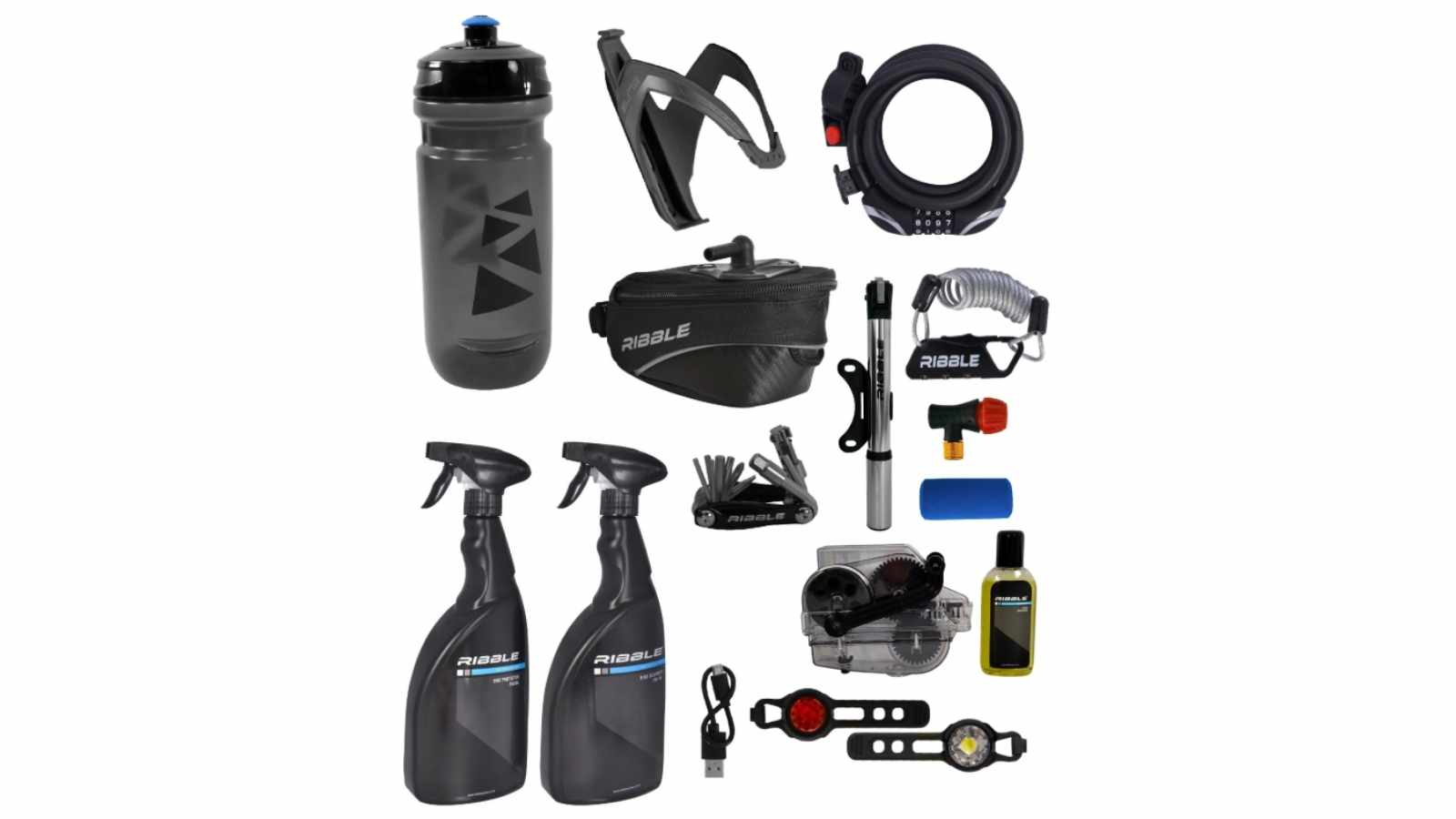 The Ribble Bike Bundle contains a whole host of basic road cycling accessories