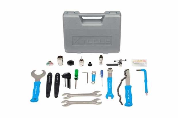 The 18-piece X-Tools Bike Tool Kit has everything a budding mechanic needs