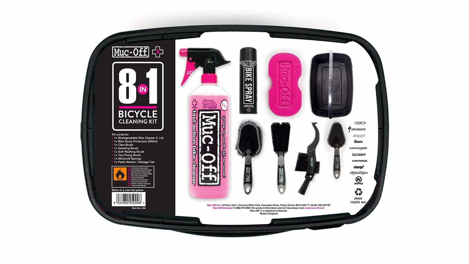 The Muc-Off 8-in-1 kit has everything you should need to get your bike ready for spring