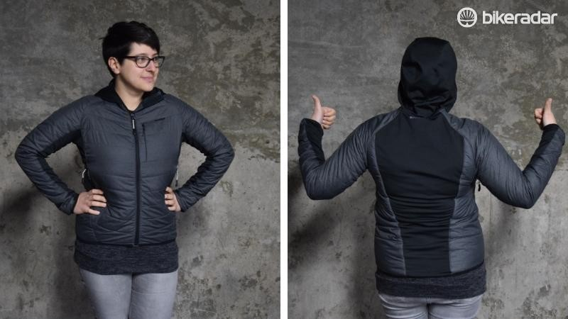 Wearing the Madison DTE Hybrid jacket with the charisma and aplomb required for a BikeRadar modelling career