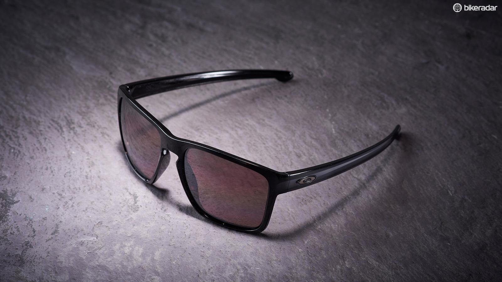 The oversized frame and deep lenses on these Oakleys work brilliantly