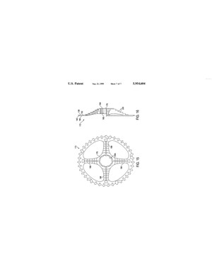 The patent suggests that the largest sprockets could be 'dished' over the spokes
