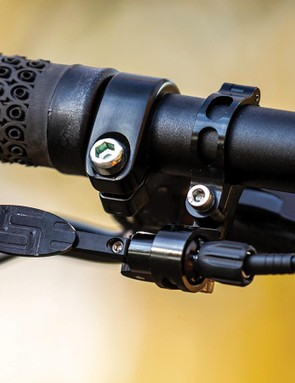 The lever is adjustable and can be integrated with SRAM or Shimano brake levers too