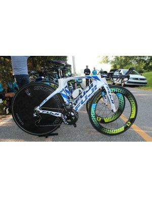 Team TIBCO-Silicon Valley Bank sport some flashy bikes, like this one belonging to Lauren Stephens